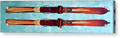 Antique Skis Acrylic Print by Derrick Higgins