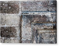 Acrylic Print featuring the photograph Antique Stone Wall Detail by Elena Elisseeva