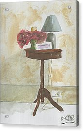 Antique Table Acrylic Print by Ken Powers