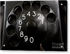Antique Telephone Dial Acrylic Print by Gunter Nezhoda