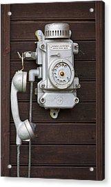 Antique Telephone Acrylic Print by Jaak Nilson