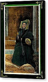 Antique Tibetan Lama Acrylic Print by Peter Gumaer Ogden