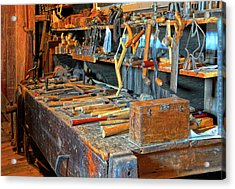 Antique Tool Bench Acrylic Print