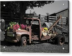 Acrylic Print featuring the photograph Antique Tow Truck by Kirkodd Photography Of New England