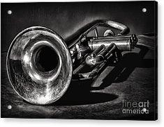Antique Trumpet 1 Acrylic Print by Walt Foegelle
