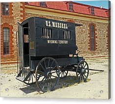 Antique U.s Marshalls Wagon Acrylic Print