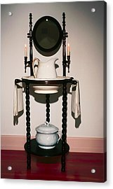 Antique Wash Stand Acrylic Print by Sally Weigand