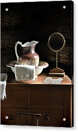 Antique Water Pitcher On Bureau Acrylic Print