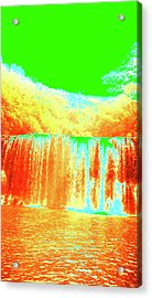 Antique Waterfall Acrylic Print by Erika Swartzkopf