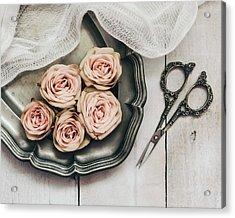 Acrylic Print featuring the photograph Antiqued Roses by Kim Hojnacki