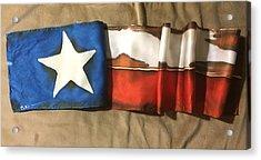 Antiqued Texas Flag Acrylic Print