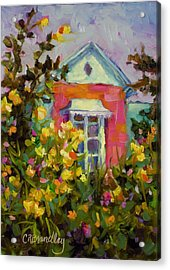 Antoinette's Cottage Acrylic Print by Chris Brandley