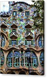 Antoni Gaudi's Casa Batllo Barcelona Spain  Acrylic Print
