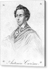 Antonin Car�me (1783-1833) Acrylic Print by Granger