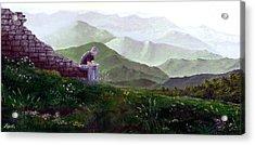 Antonio Atop La Rocca De Monte Calvo Acrylic Print