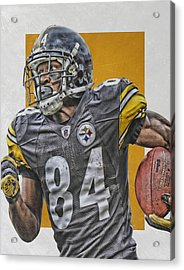 Antonio Brown Pittsburgh Steelers Art 3 Acrylic Print by Joe Hamilton