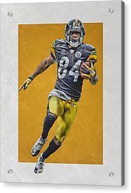 Antonio Brown Pittsburgh Steelers Art Acrylic Print by Joe Hamilton