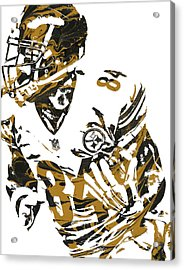 Antonio Brown Pittsburgh Steelers Pixel Art 7 Acrylic Print by Joe Hamilton
