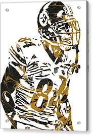 Antonio Brown Pittsburgh Steelers Pixel Art4 Acrylic Print by Joe Hamilton