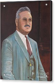 Antonio - Portrait Original Oil Painting Acrylic Print