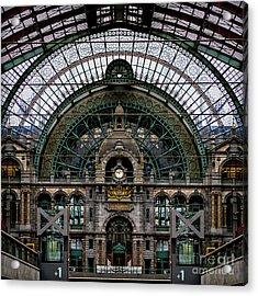 Antwerp Train Terminal Acrylic Print