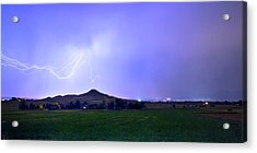 Acrylic Print featuring the photograph Anvil Lightning Striking Above Haystack Mountain Panorama by James BO Insogna