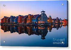 Any Colour You Like - Reitdiephaven - Netherlands Acrylic Print by Henk Meijer Photography