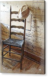 Anywhere I Hang My Hat Acrylic Print by Ellen Cannon