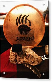 Apache Drum Acrylic Print by Ayasha Loya