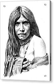 Apache Girl Zosh Clishn Acrylic Print