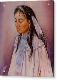 Acrylic Print featuring the painting Apache Maiden by Ann Peck