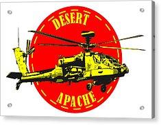 Apache On Desert Acrylic Print
