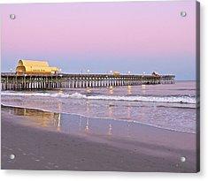 Apache Pier Sunset Acrylic Print by Eve Spring
