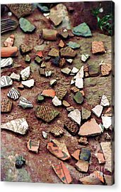 Acrylic Print featuring the photograph Apache Pottery Shards by Juls Adams