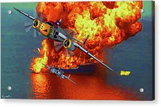 Apache Strike - Oil Acrylic Print by Tommy Anderson