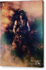 Apache Warrior Acrylic Print by Shanina Conway