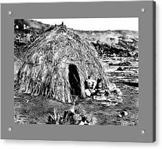 Apache Wikiup Acrylic Print by John Feiser