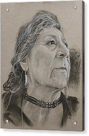 Apache Woman Acrylic Print