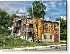 Apartment Building Acrylic Print by Milton Irvin