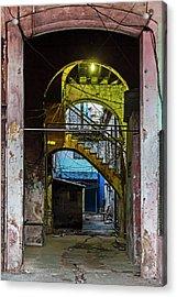 Apartment Enrance Havana Cuba Near Calle C Acrylic Print by Charles Harden