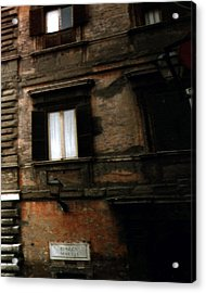 Apartment House On Piazza Mattei In Rome Acrylic Print by Merton Allen