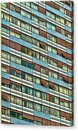 Acrylic Print featuring the photograph Apartment Windows by Kim Wilson