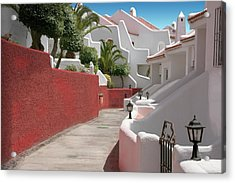 Apartments San Blas Tenerife Acrylic Print by Aleck Rich Seddon