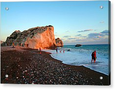 Aphrodites Rock Acrylic Print by Donald Buchanan