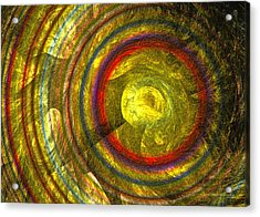 Acrylic Print featuring the digital art Apollo - Abstract Art by Sipo Liimatainen