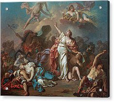 Apollo And Diana Attacking The Children Of Niobe Acrylic Print