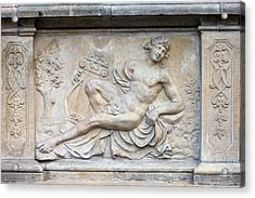 Apollo Relief In Gdansk Acrylic Print by Artur Bogacki