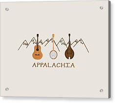 Acrylic Print featuring the digital art Appalachia Mountain Music by Heather Applegate