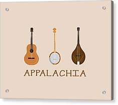 Acrylic Print featuring the digital art Appalachia Music by Heather Applegate