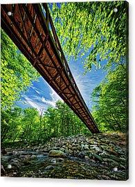 Acrylic Print featuring the photograph Appalachian Trail Foot Bridge by David A Lane